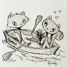 He rowed me in a rowboat <3
